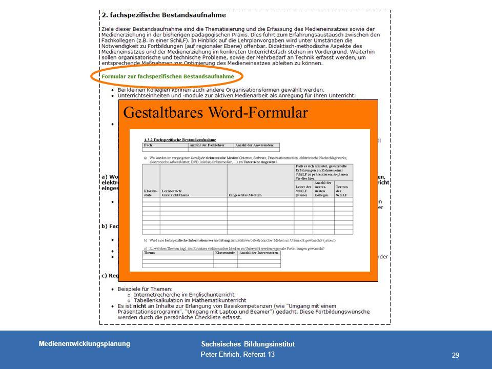 Gestaltbares Word-Formular