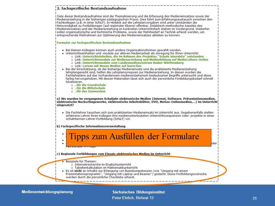 Tipps zum Ausfüllen der Formulare