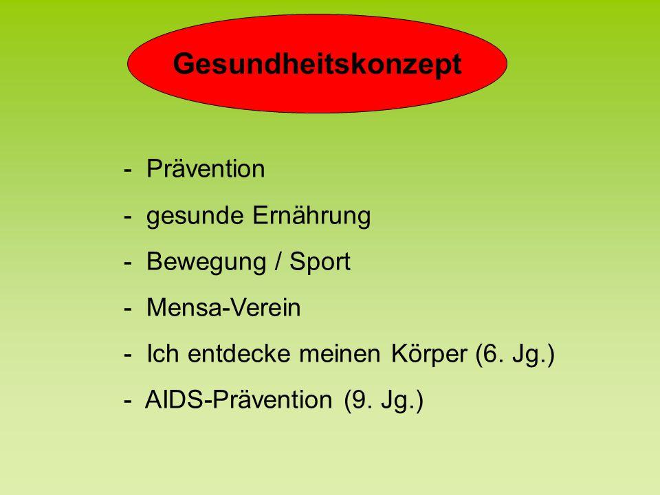 Gesundheitskonzept - Prävention - gesunde Ernährung - Bewegung / Sport