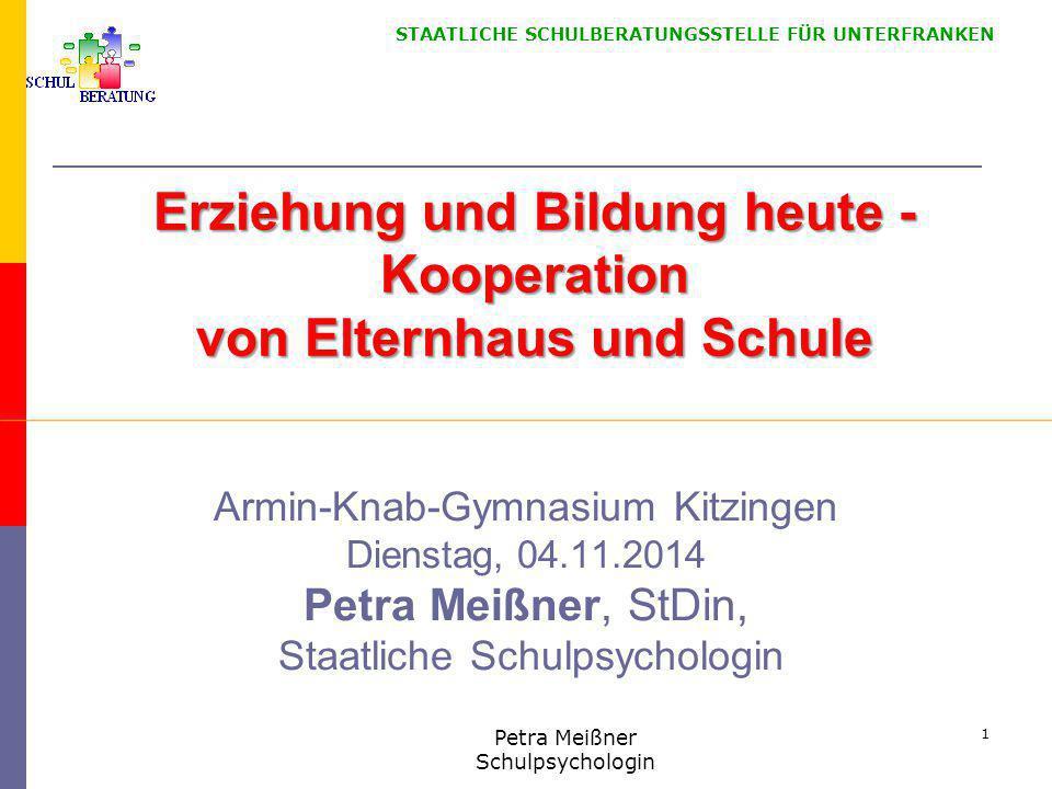 Erziehung und Bildung heute - Kooperation von Elternhaus und Schule