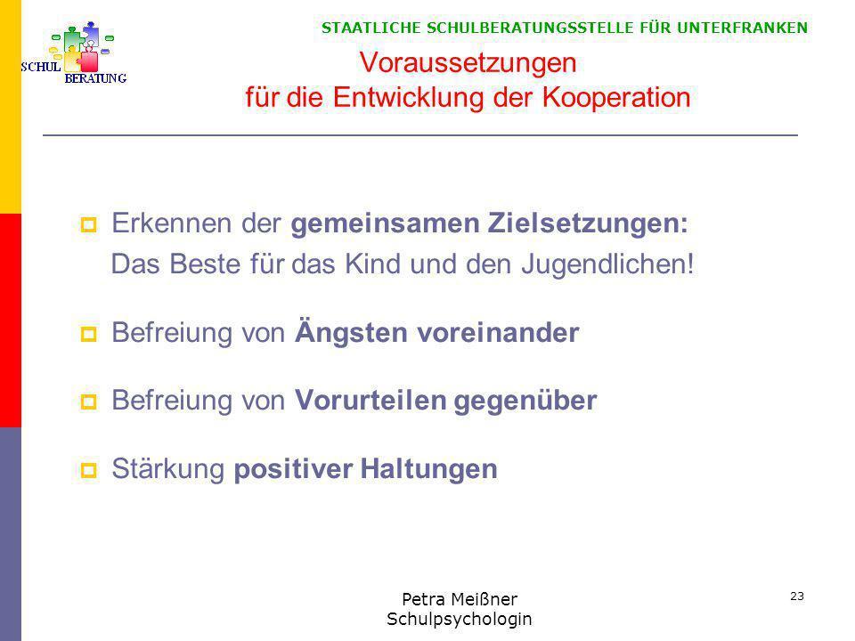 Voraussetzungen für die Entwicklung der Kooperation