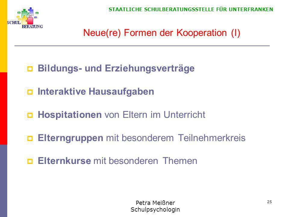 Neue(re) Formen der Kooperation (I)