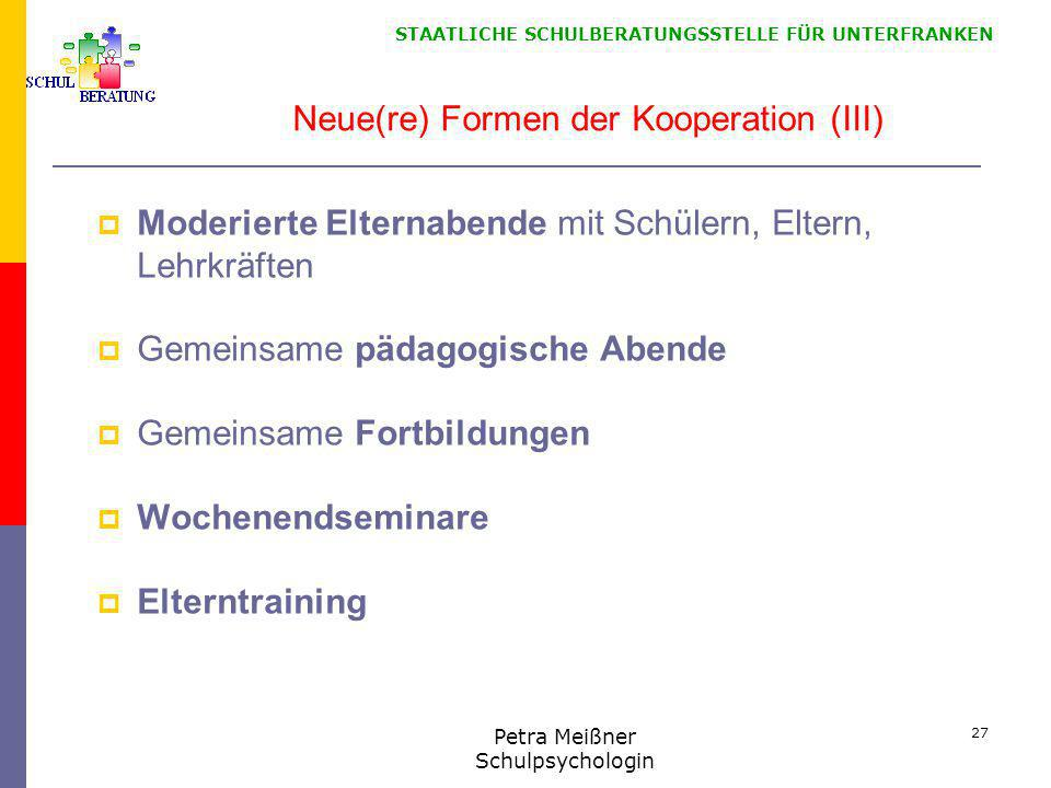 Neue(re) Formen der Kooperation (III)