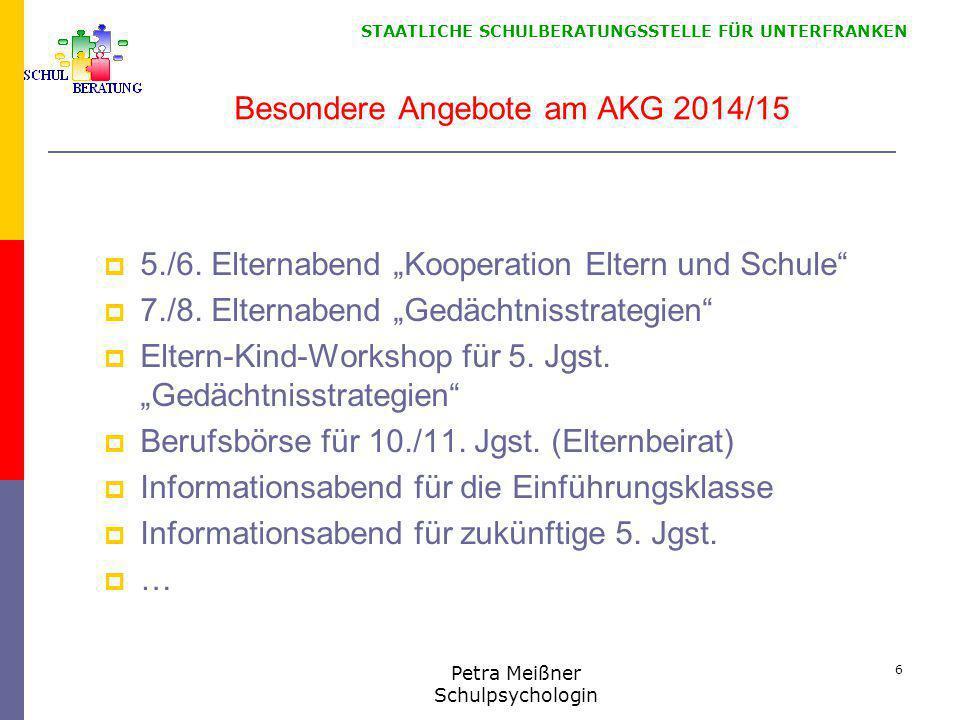 Besondere Angebote am AKG 2014/15
