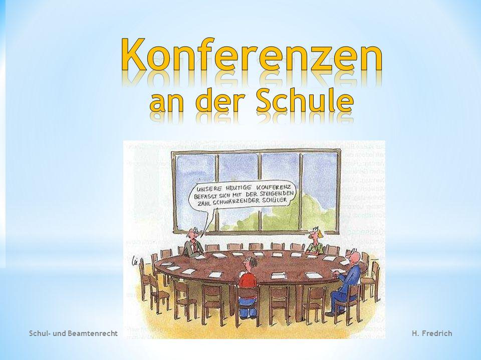 Konferenzen an der Schule
