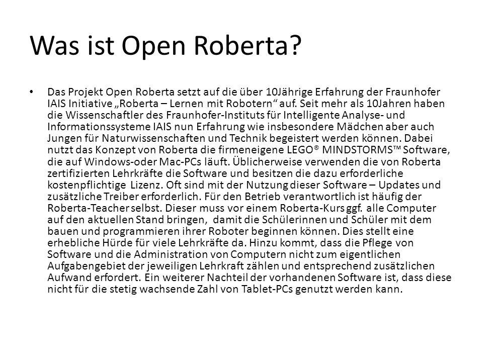 Was ist Open Roberta