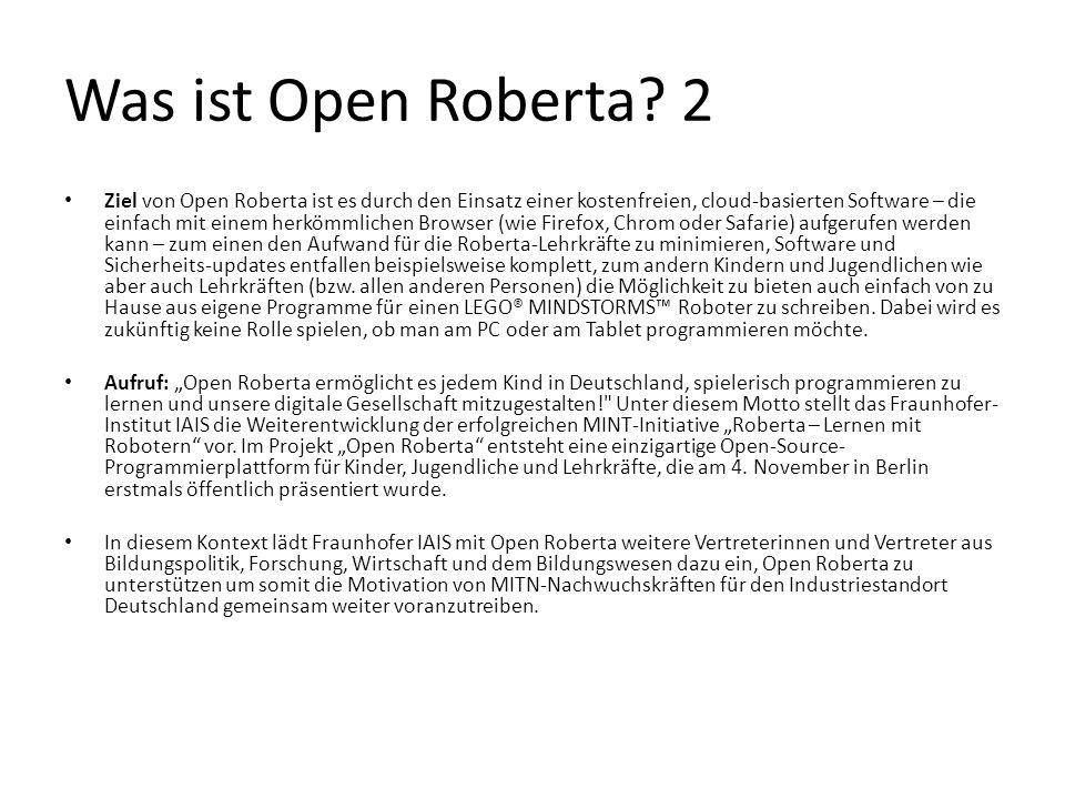 Was ist Open Roberta 2