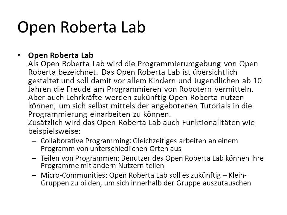 Open Roberta Lab