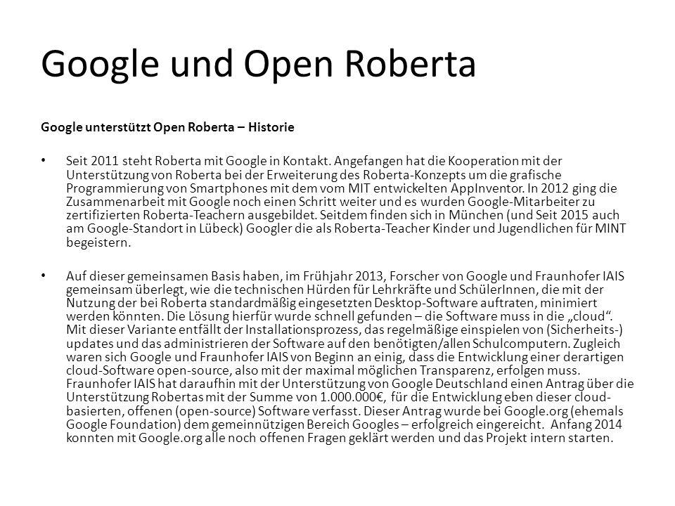 Google und Open Roberta