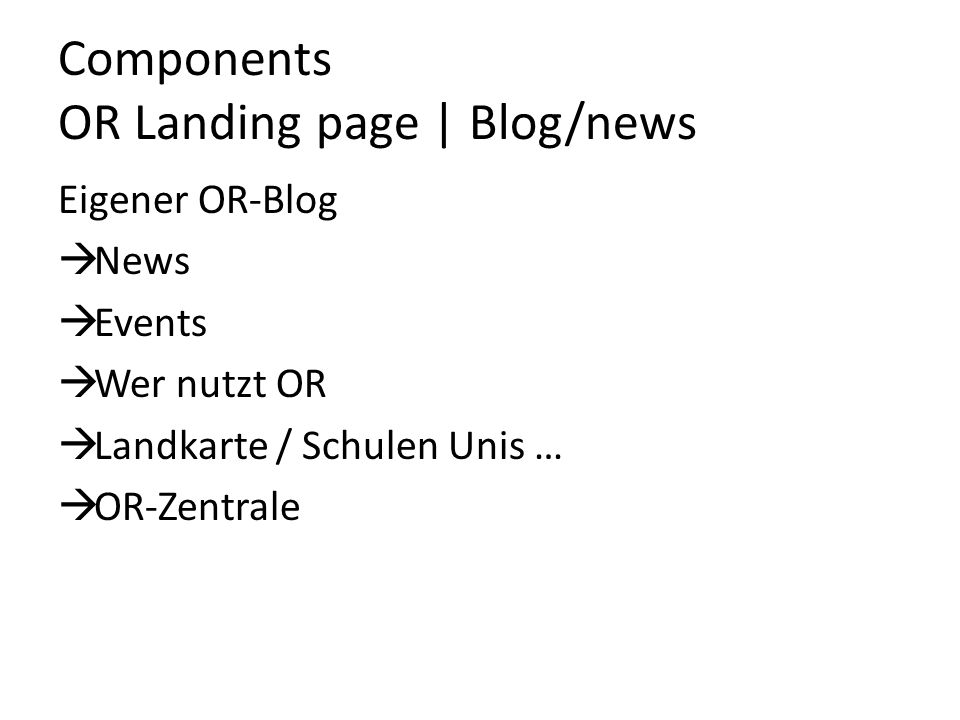 Components OR Landing page | Blog/news