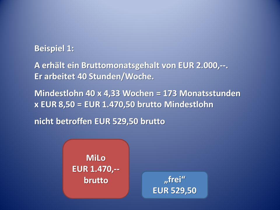 """MiLo EUR 1.470,-- brutto """"frei EUR 529,50"""