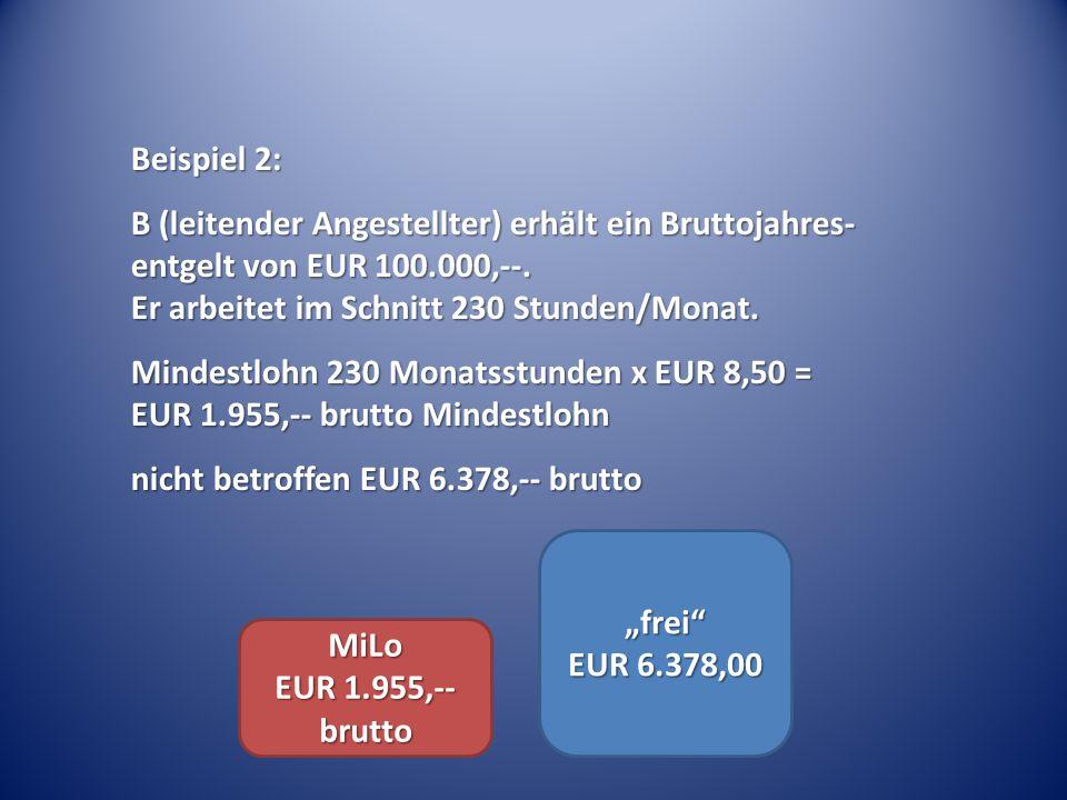 """""""frei EUR 6.378,00 MiLo EUR 1.955,-- brutto"""