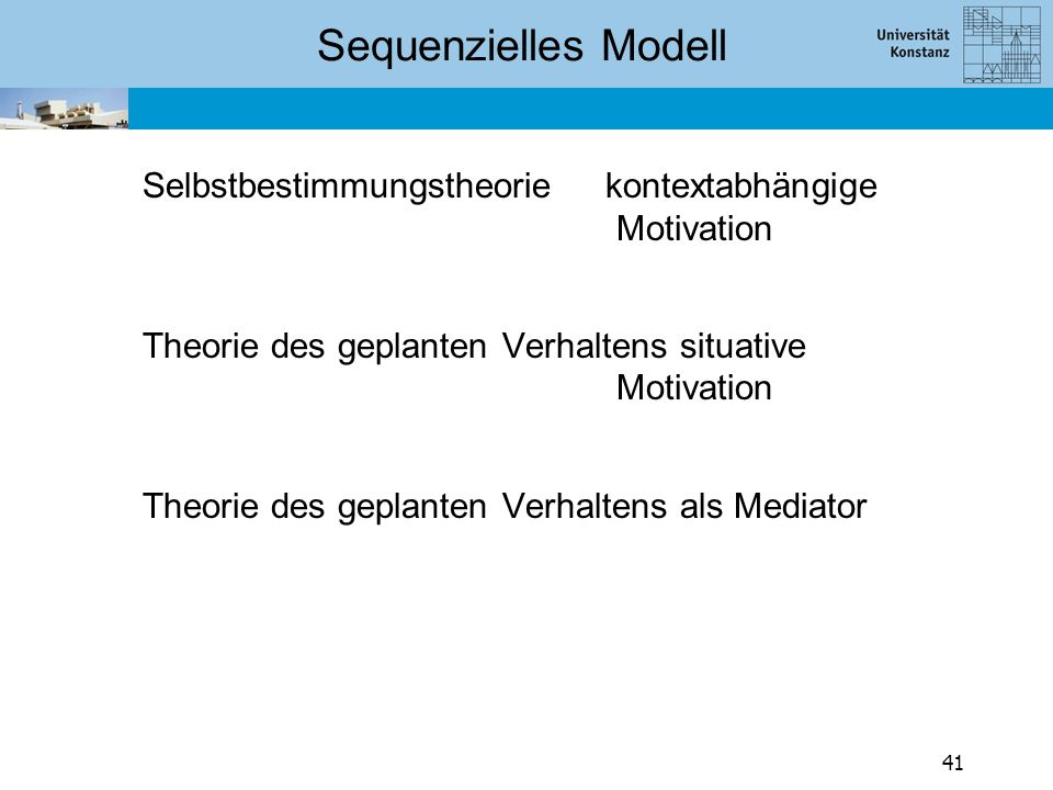 Sequenzielles Modell