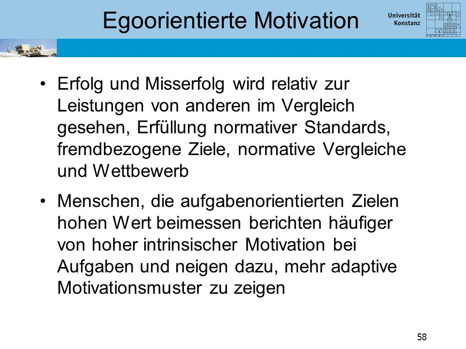 Egoorientierte Motivation