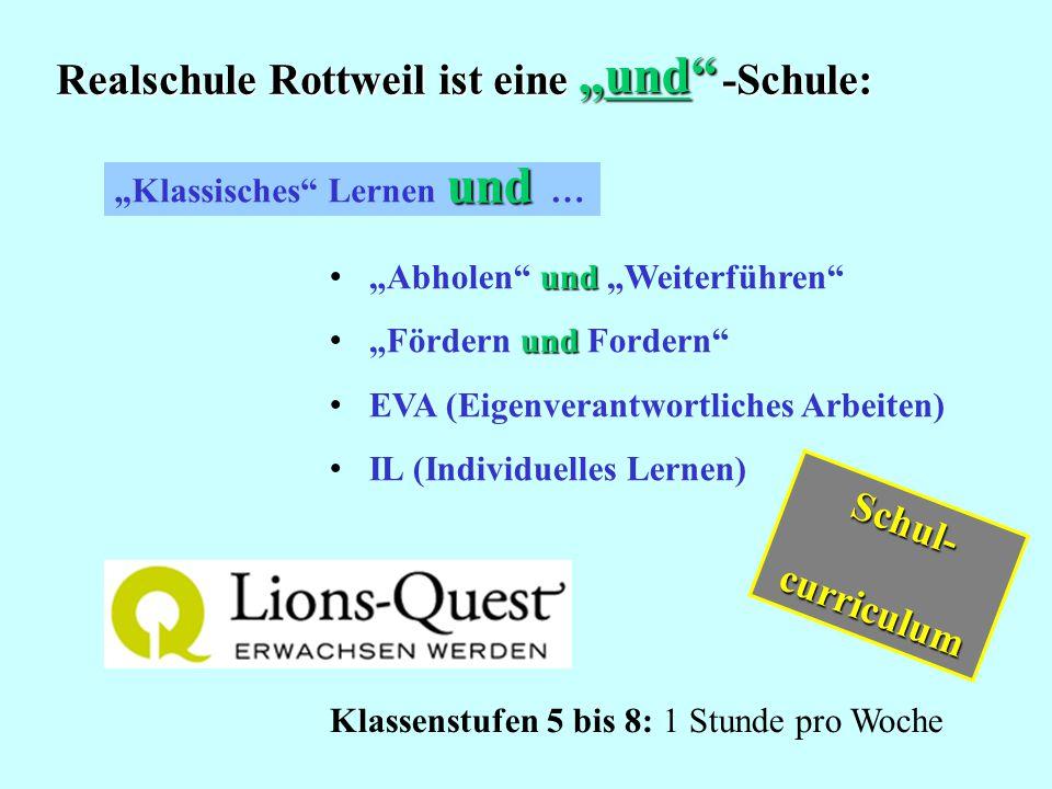 """""""und und Realschule Rottweil ist eine -Schule: Schul- curriculum"""