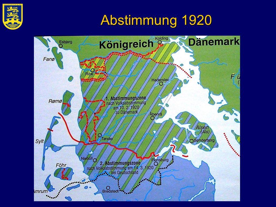 Abstimmung 1920 Volksabstimmung 2 Zonen, Grenze, Regeln