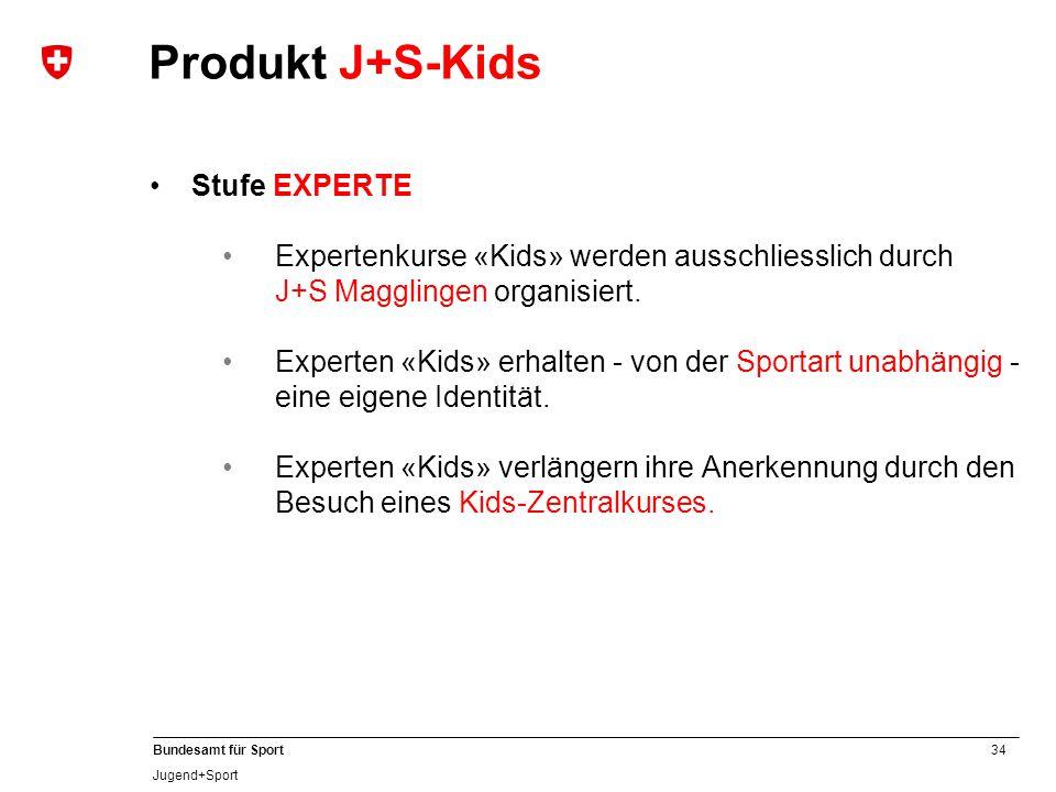 Produkt J+S-Kids Stufe EXPERTE