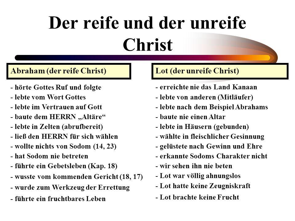 Der reife und der unreife Christ