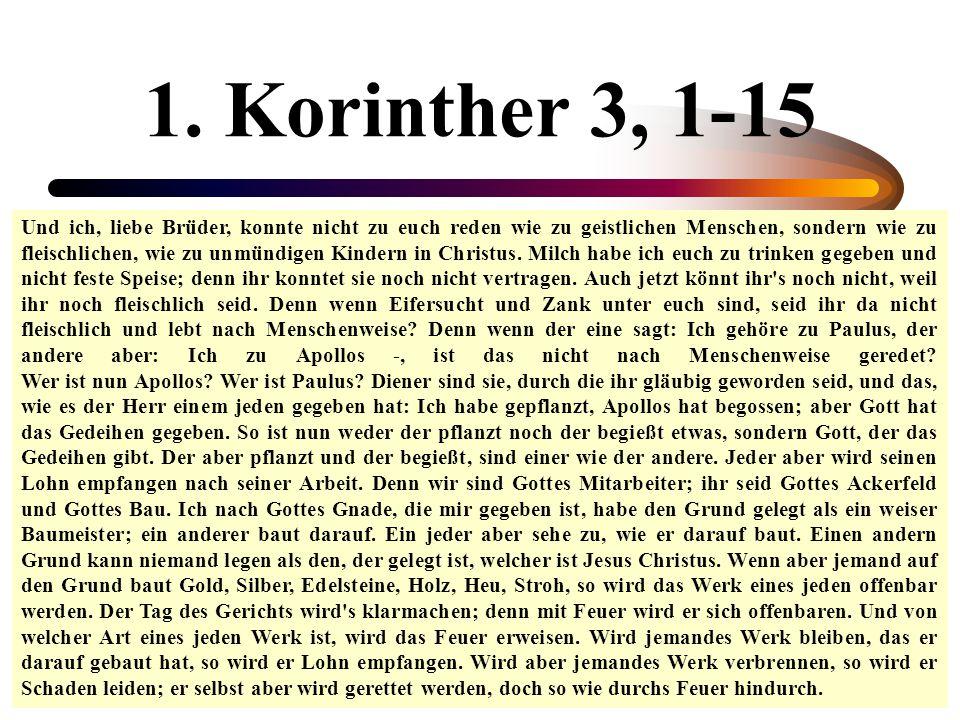 1. Korinther 3, 1-15
