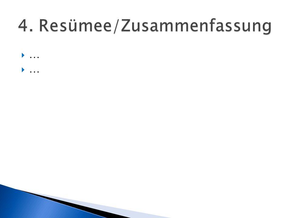 4. Resümee/Zusammenfassung