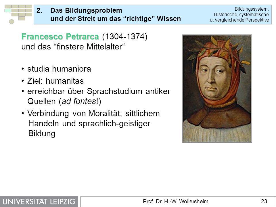 Francesco Petrarca (1304-1374) und das finstere Mittelalter