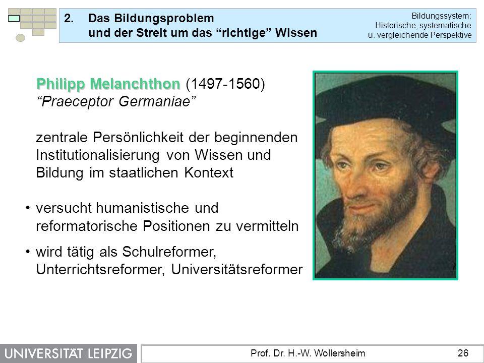 Philipp Melanchthon (1497-1560) Praeceptor Germaniae