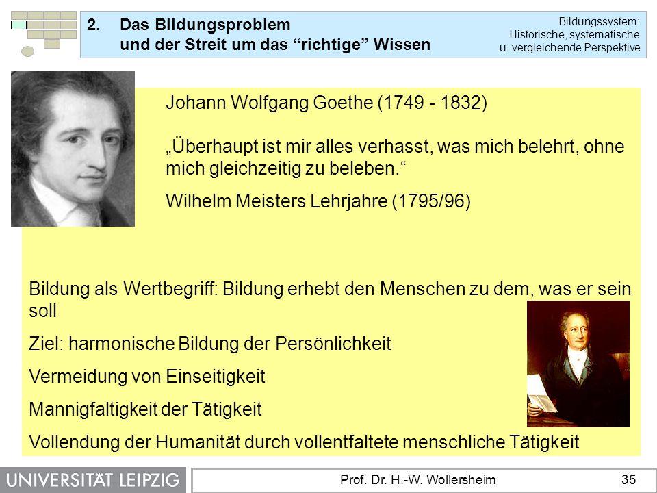 Wilhelm Meisters Lehrjahre (1795/96)