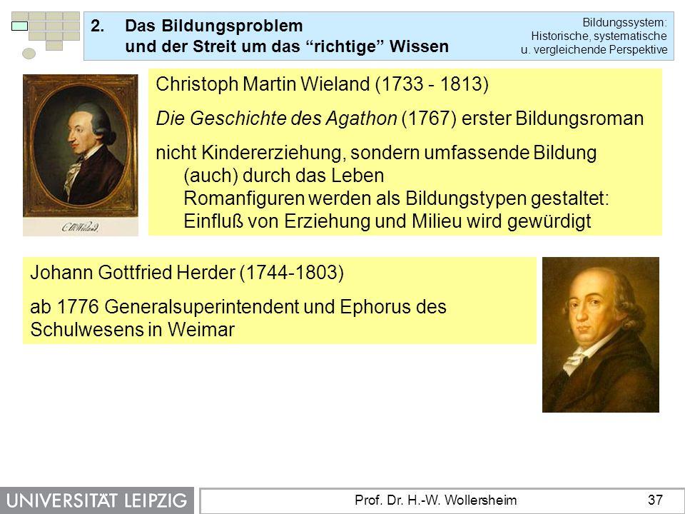 Christoph Martin Wieland (1733 - 1813)