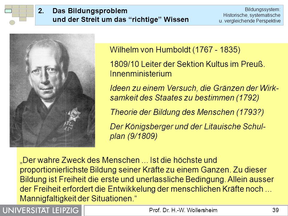 Wilhelm von Humboldt (1767 - 1835)