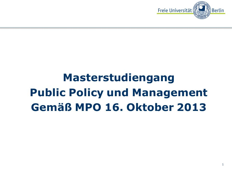 Public Policy und Management
