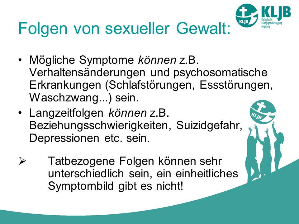 Folgen von sexueller Gewalt: