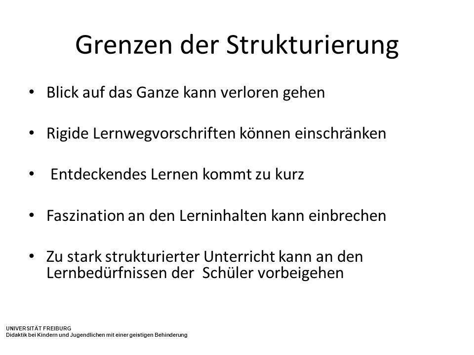 Grenzen der Strukturierung