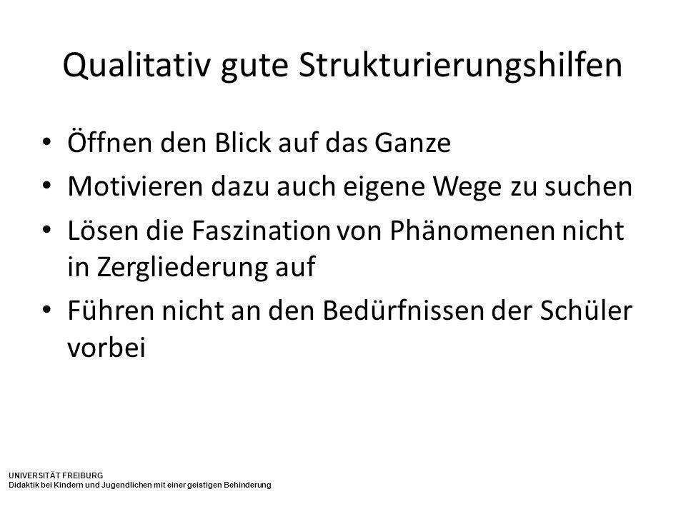 Qualitativ gute Strukturierungshilfen