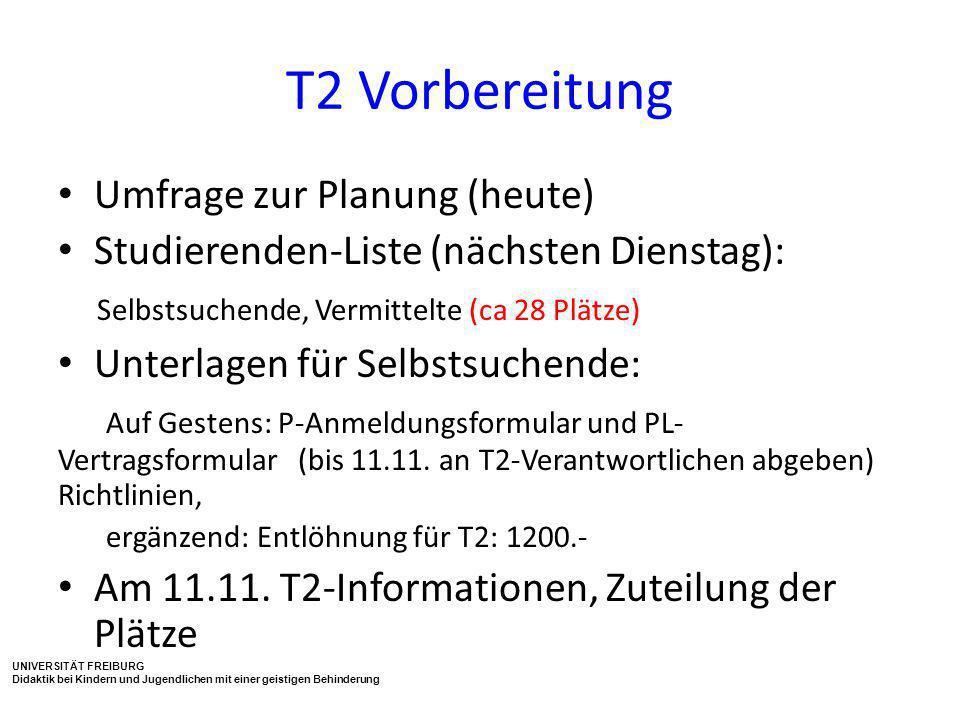 T2 Vorbereitung Umfrage zur Planung (heute)