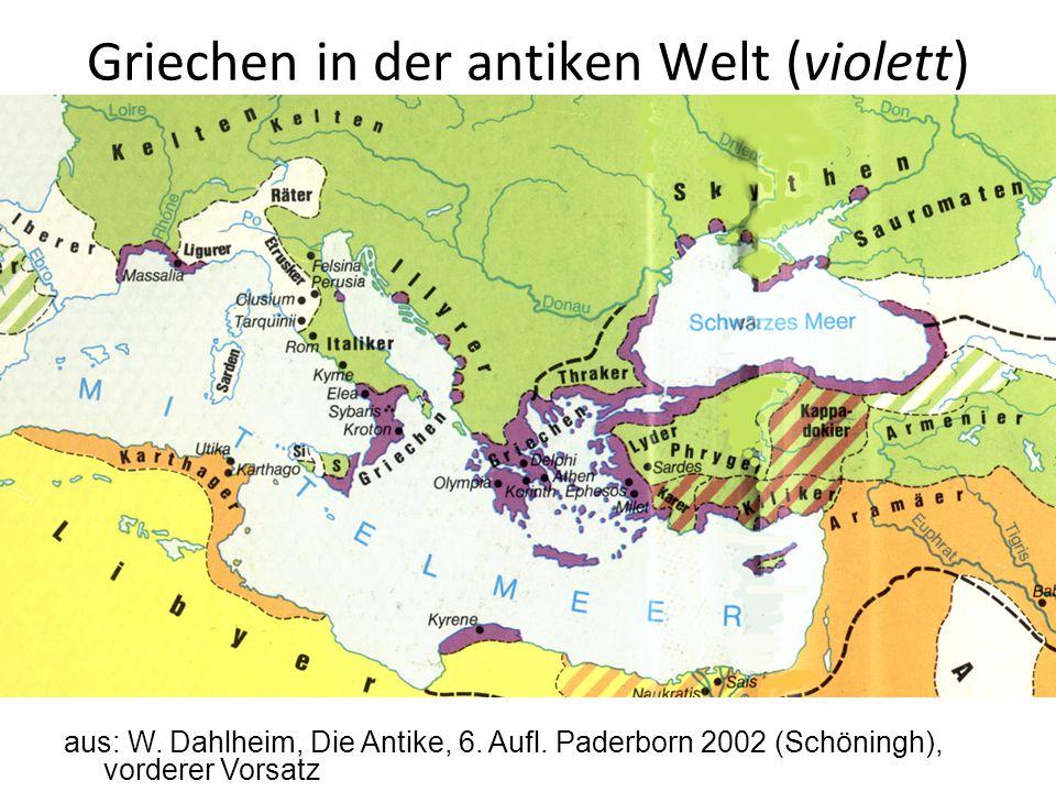 Griechen in der antiken Welt (violett)