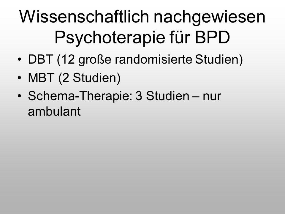 Wissenschaftlich nachgewiesen Psychoterapie für BPD