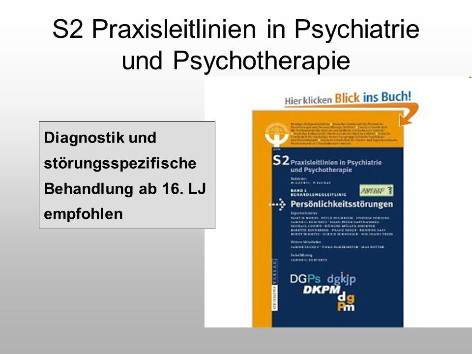 S2 Praxisleitlinien in Psychiatrie und Psychotherapie