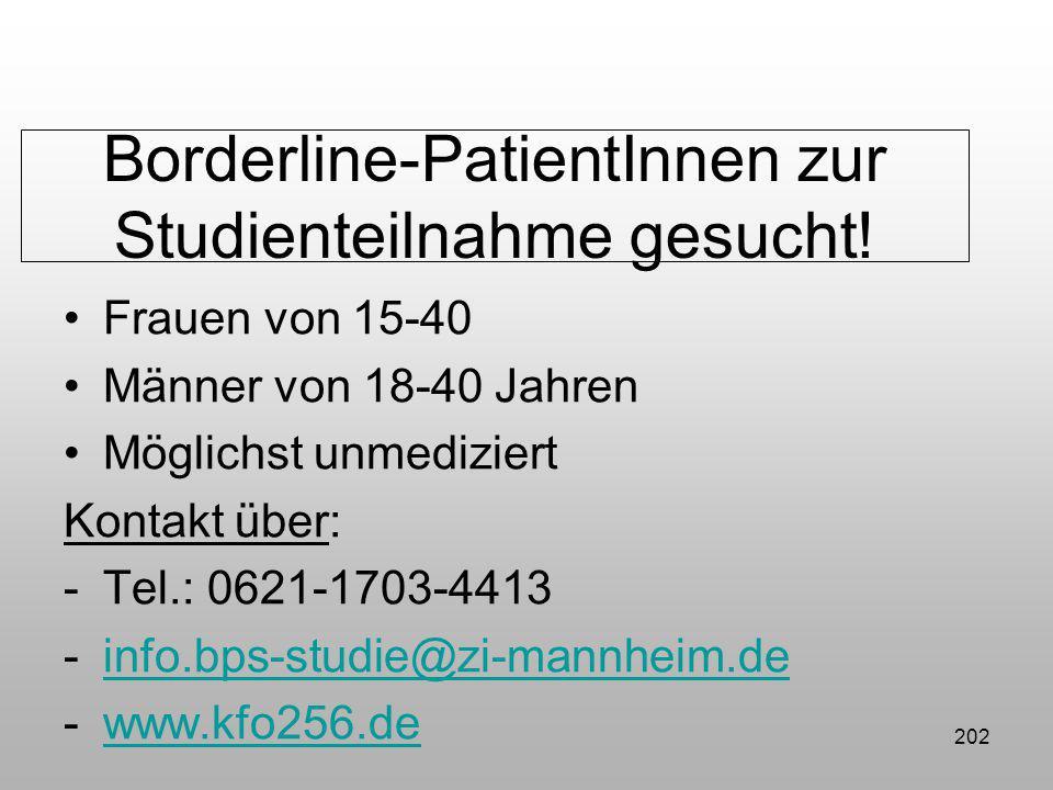 Borderline-PatientInnen zur Studienteilnahme gesucht!