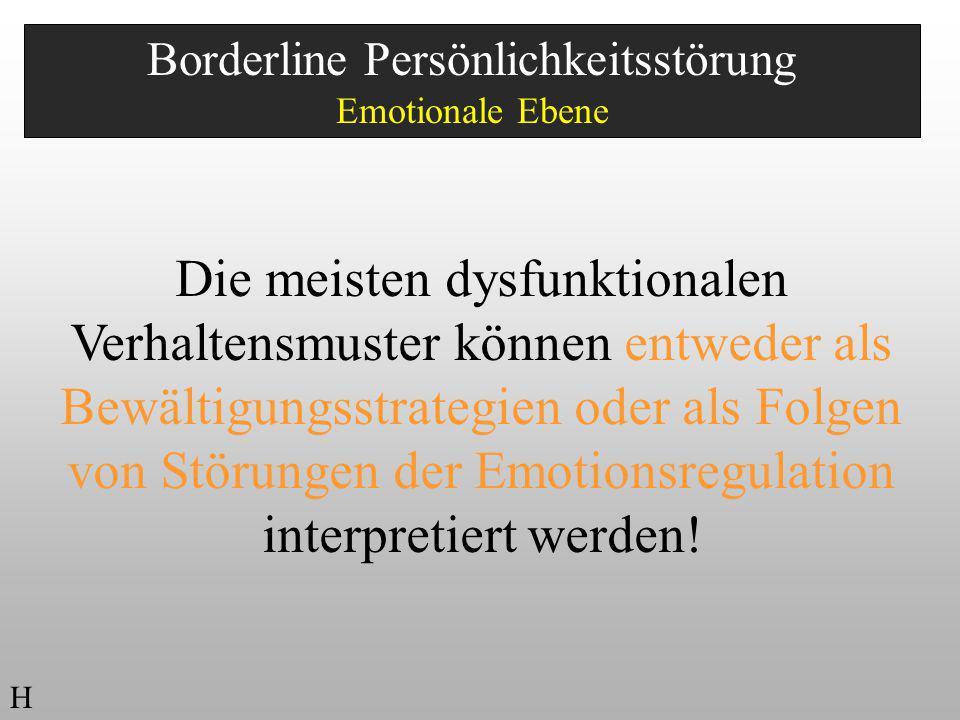 Borderline Persönlichkeitsstörung Emotionale Ebene