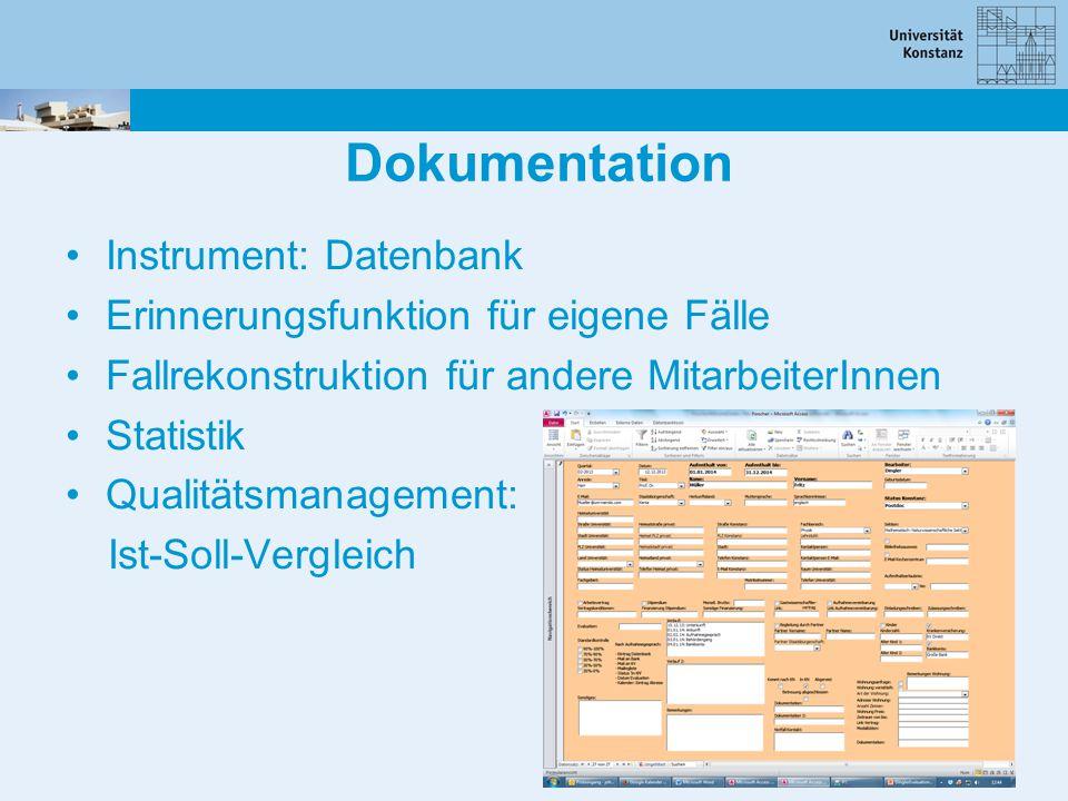 Dokumentation Instrument: Datenbank