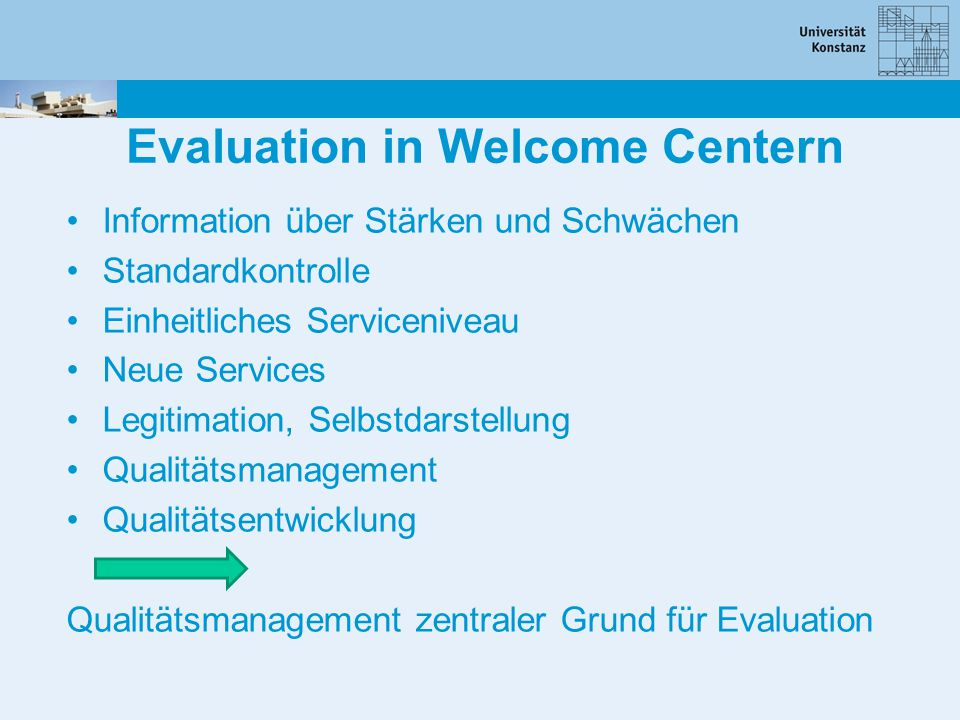 Evaluation in Welcome Centern