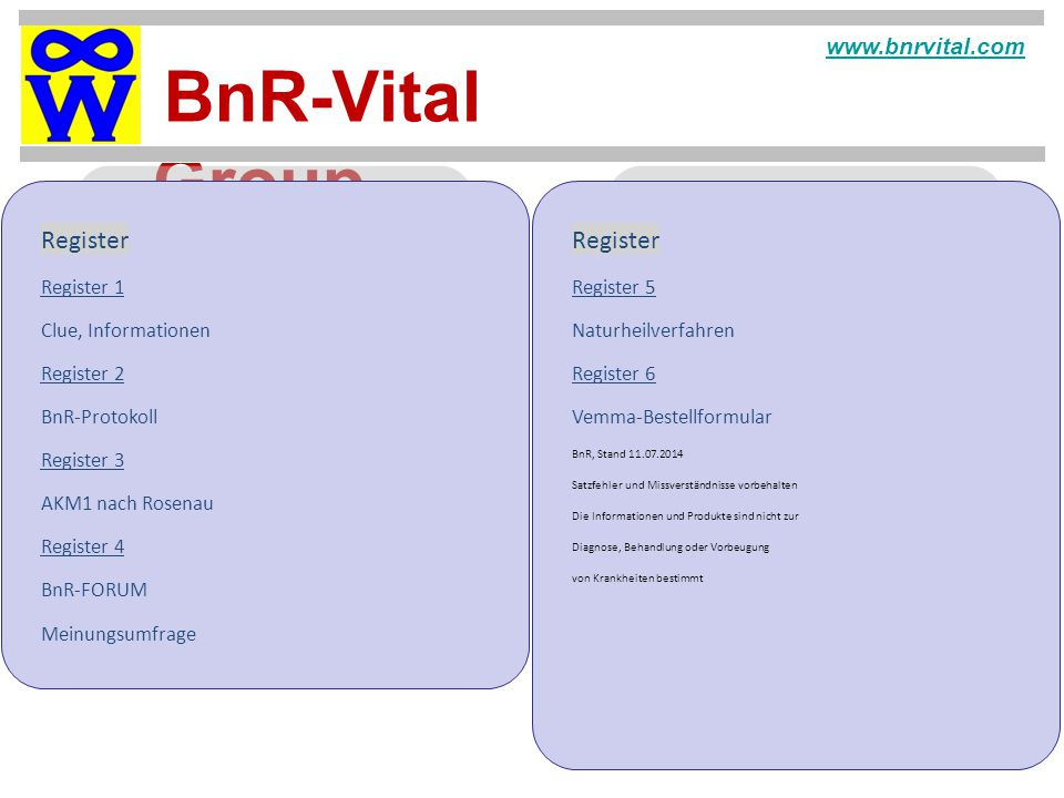 Register Register www.bnrvital.com Register 1 Register 5