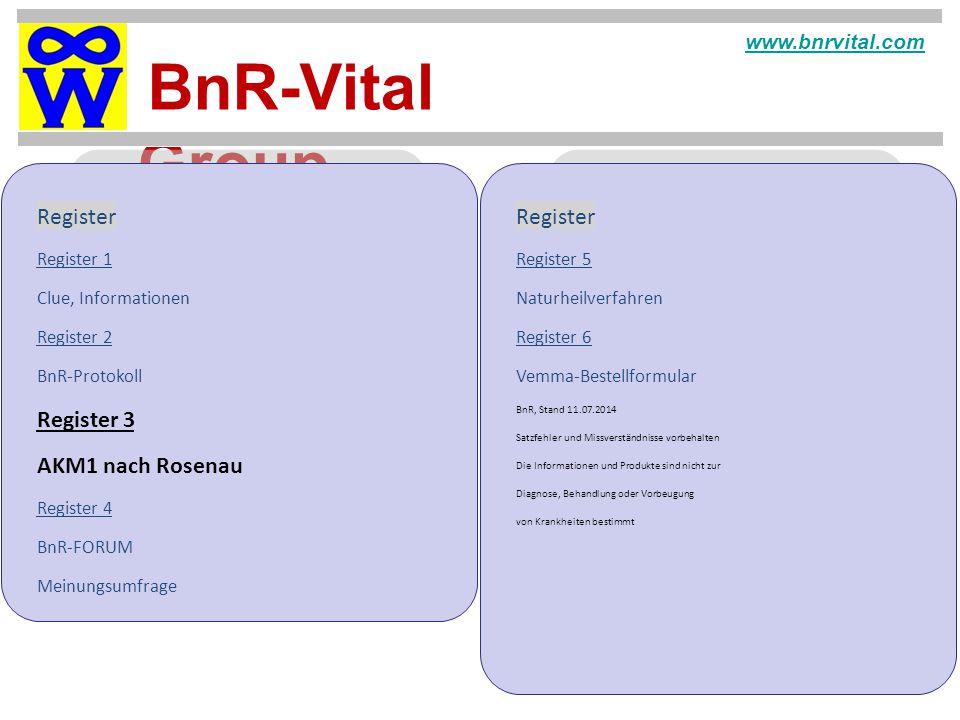 Register Register Register 3 AKM1 nach Rosenau www.bnrvital.com