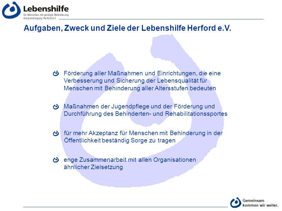 Aufgaben, Zweck und Ziele der Lebenshilfe Herford e.V.
