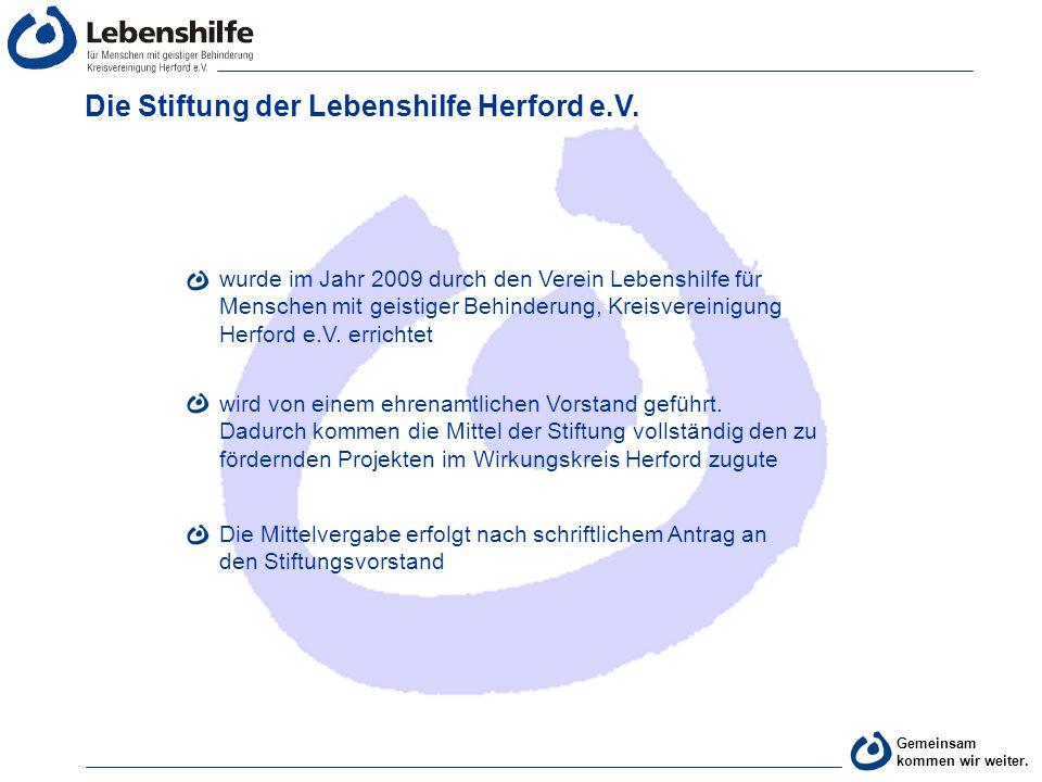 Die Stiftung der Lebenshilfe Herford e.V.