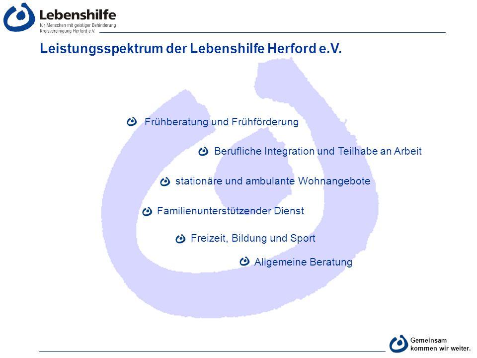 Leistungsspektrum der Lebenshilfe Herford e.V.
