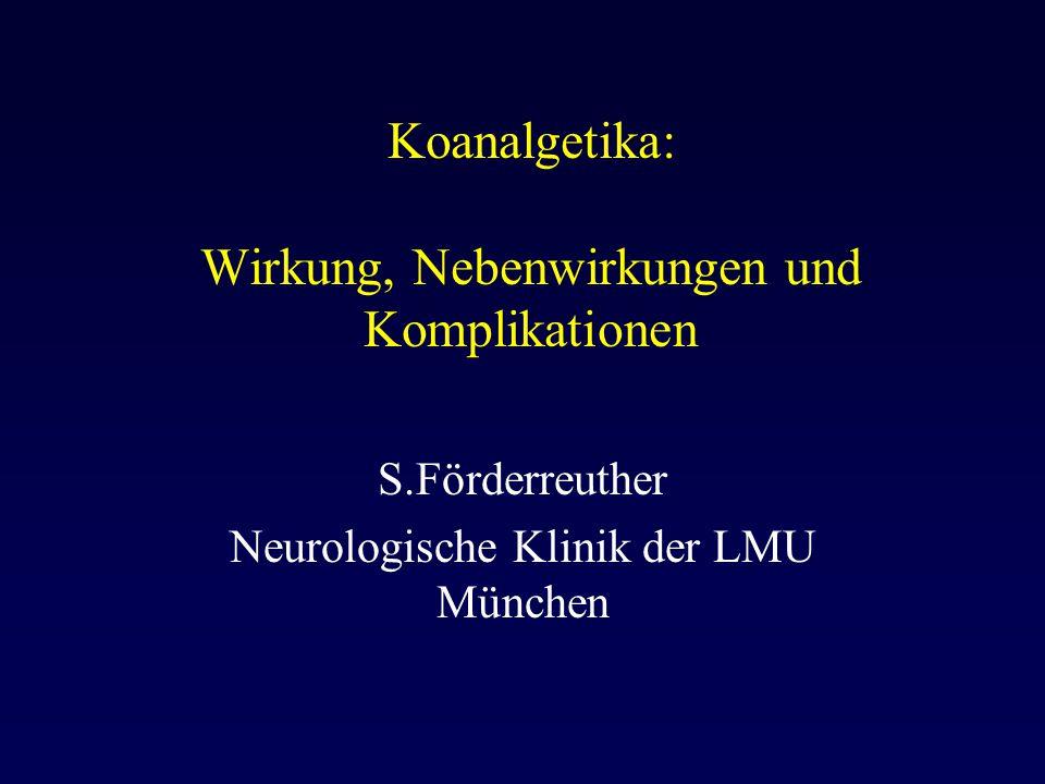 Koanalgetika: Wirkung, Nebenwirkungen und Komplikationen
