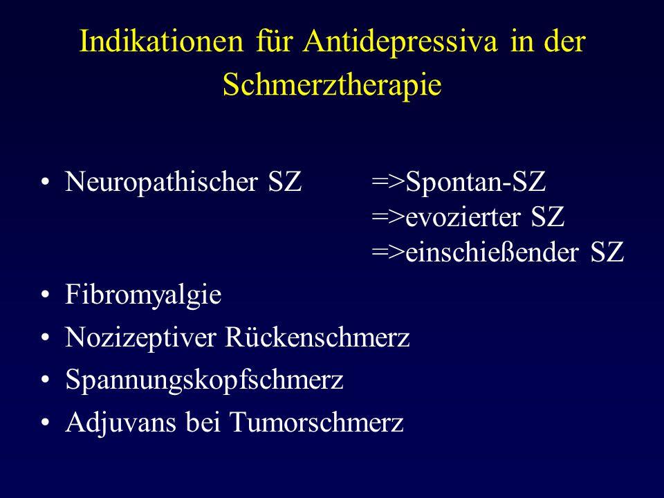 Indikationen für Antidepressiva in der Schmerztherapie