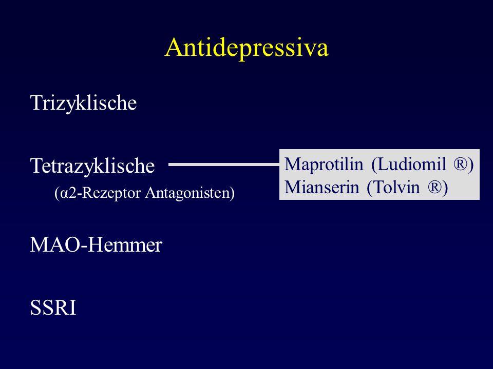 Antidepressiva Trizyklische Tetrazyklische MAO-Hemmer SSRI