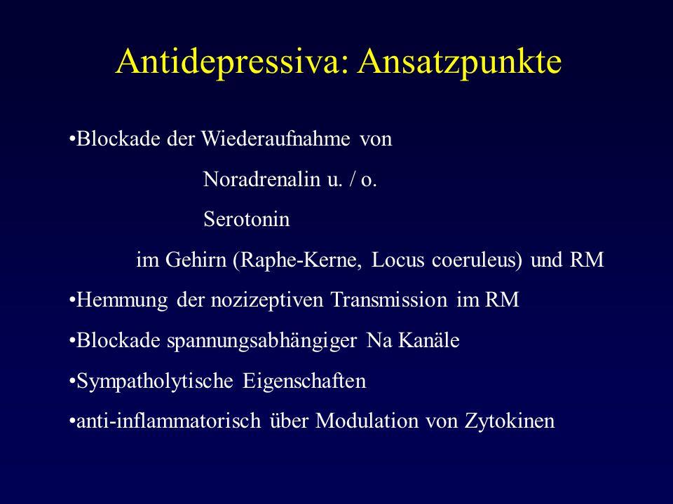 Antidepressiva: Ansatzpunkte